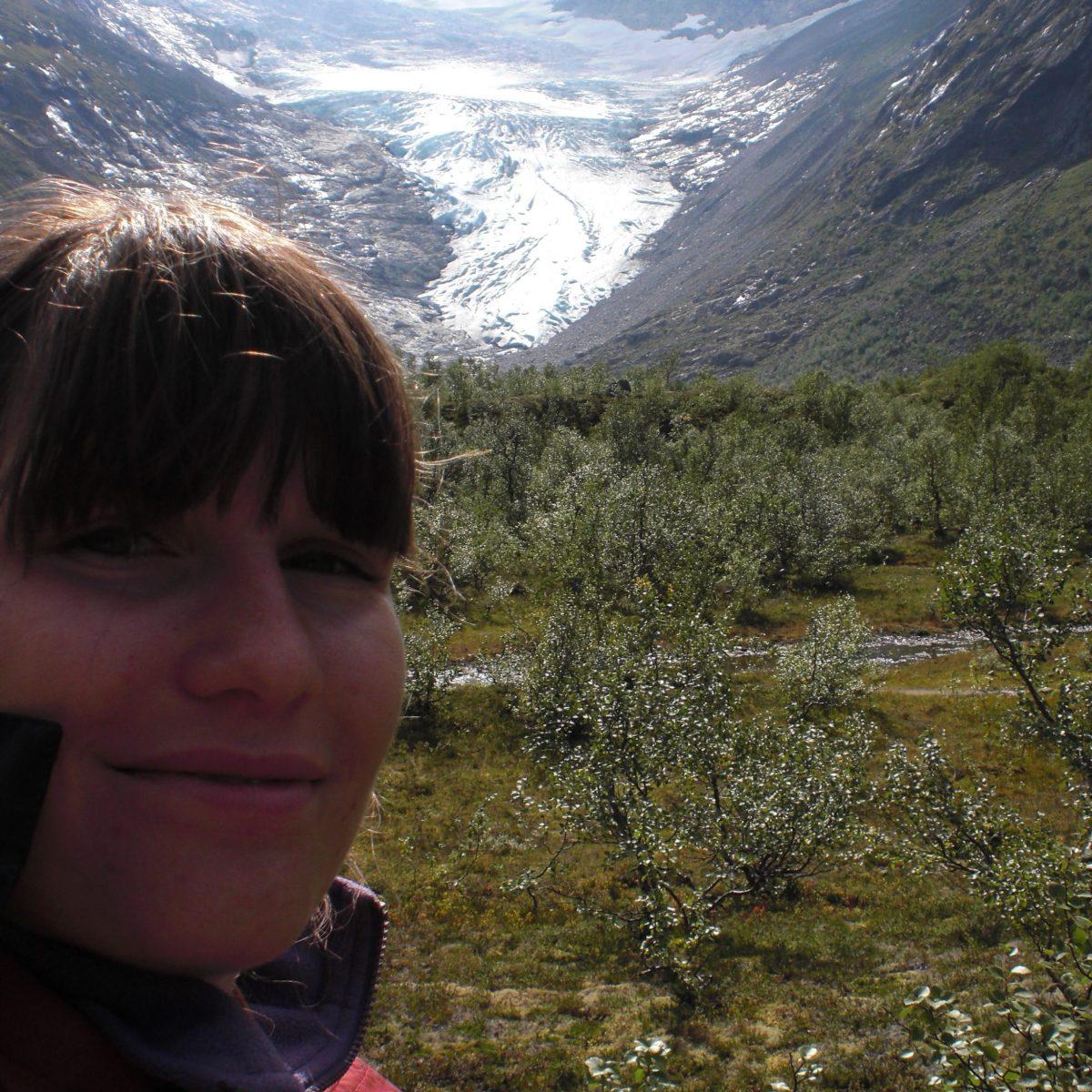 Ausläufer vom Jostedalsbreen Norwegen, vor der Gletscherwanderung
